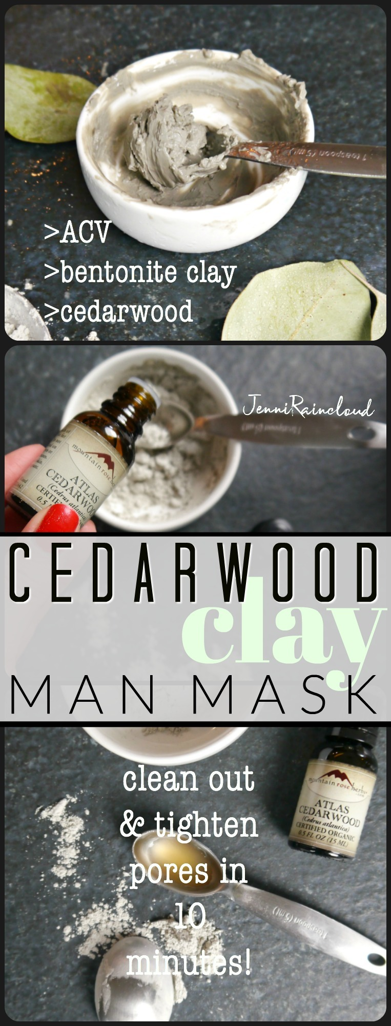 DIY Cedarwood Clay Mask