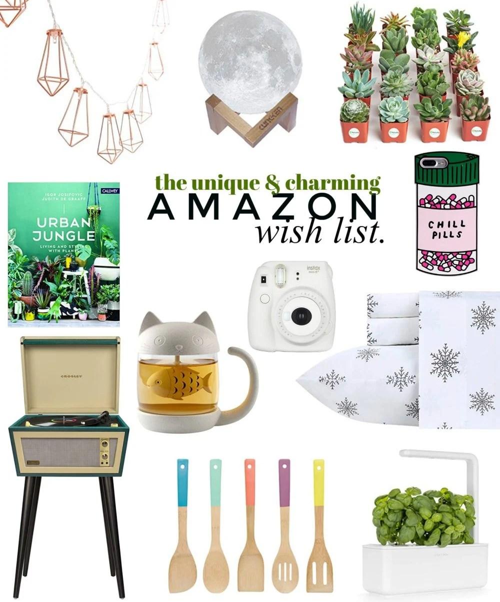 The Unique & Charming Amazon Wish List