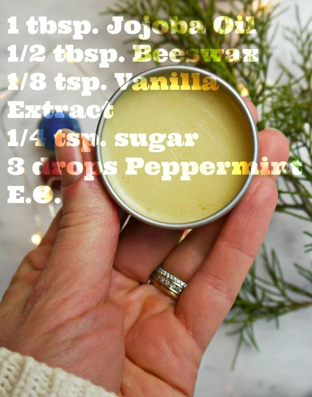 DIY Vanilla Peppermint Lip Balm