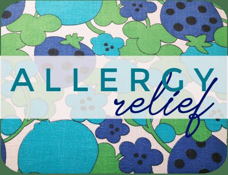 ALLERGY relief label