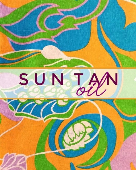 Sun Tan Oil label