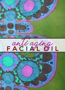anti aging facial oil label