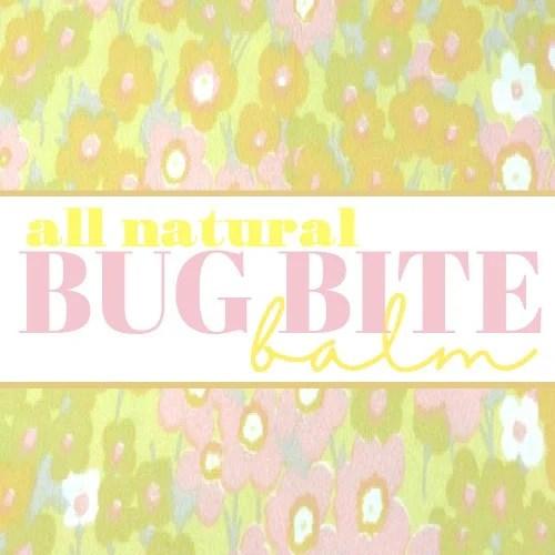 bug bite balm label