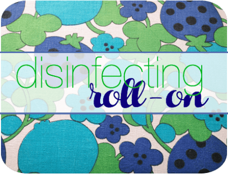 disinfecting roll on label