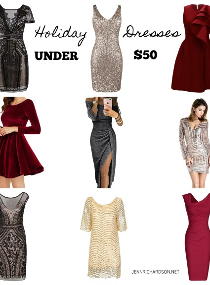 Holiday Dresses Under $50!