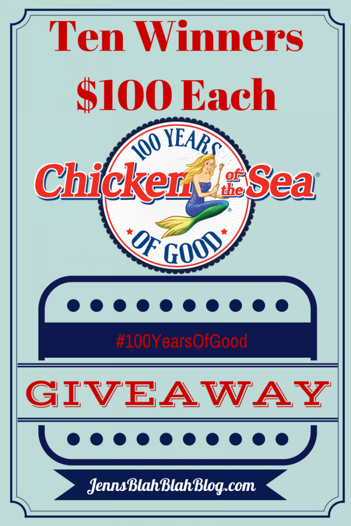 - Chicken of the Sea #100YearsOfGood Giveaway 10 Winners