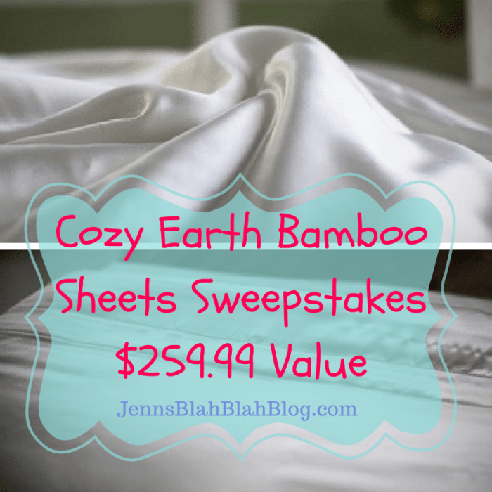 Cozy Earth Bamboo Sheets Sweepstakes