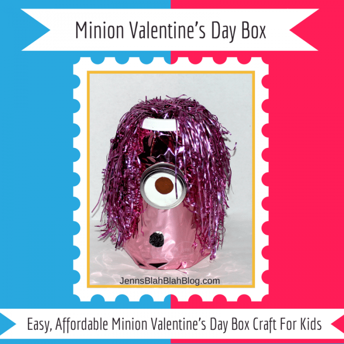 DIY Minion Valentine's Day Box For Kids