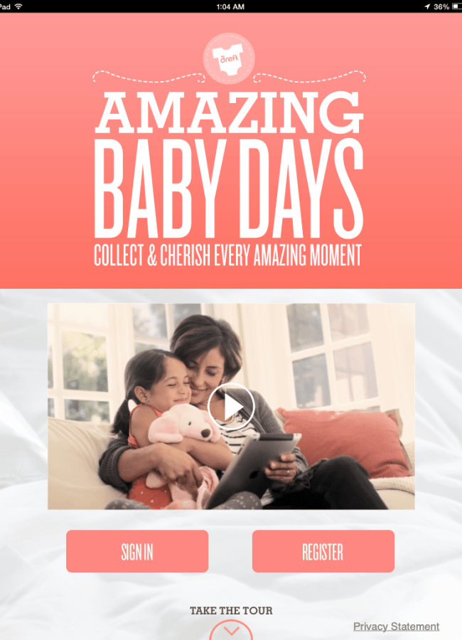 Dreft's Amazing Baby Days App