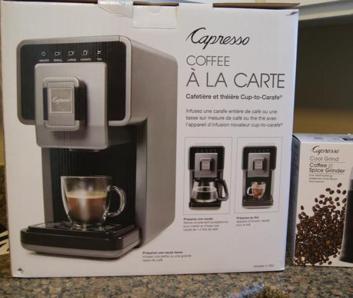 Capresso Coffee A La Carte Coffee and Tea Maker.