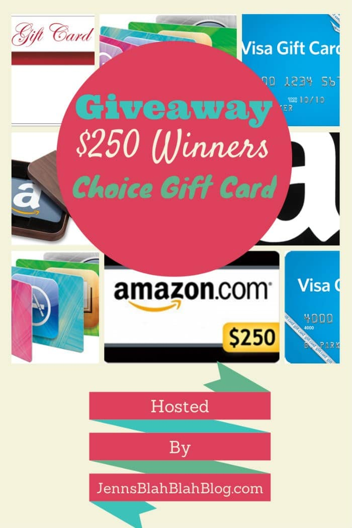 Winners Pick It $250 Gift Card Giveaway
