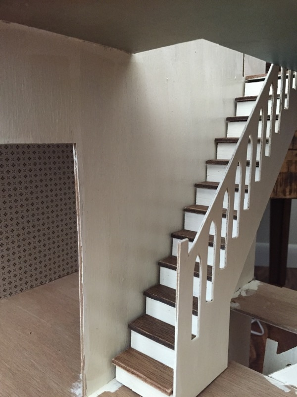 Beacon Hill Second Floor Staircase Jenn S Mini Worlds A   Stairs To Second Floor Design   Bathroom Next   Space Saving   Square Shaped   Kitchen   Stairway