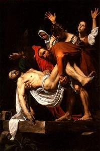 entombment of christ caravaggio