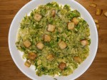 Warm Brussel sprout Caesar Salad