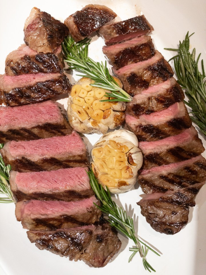 Steak with Balsamic and Rosemary