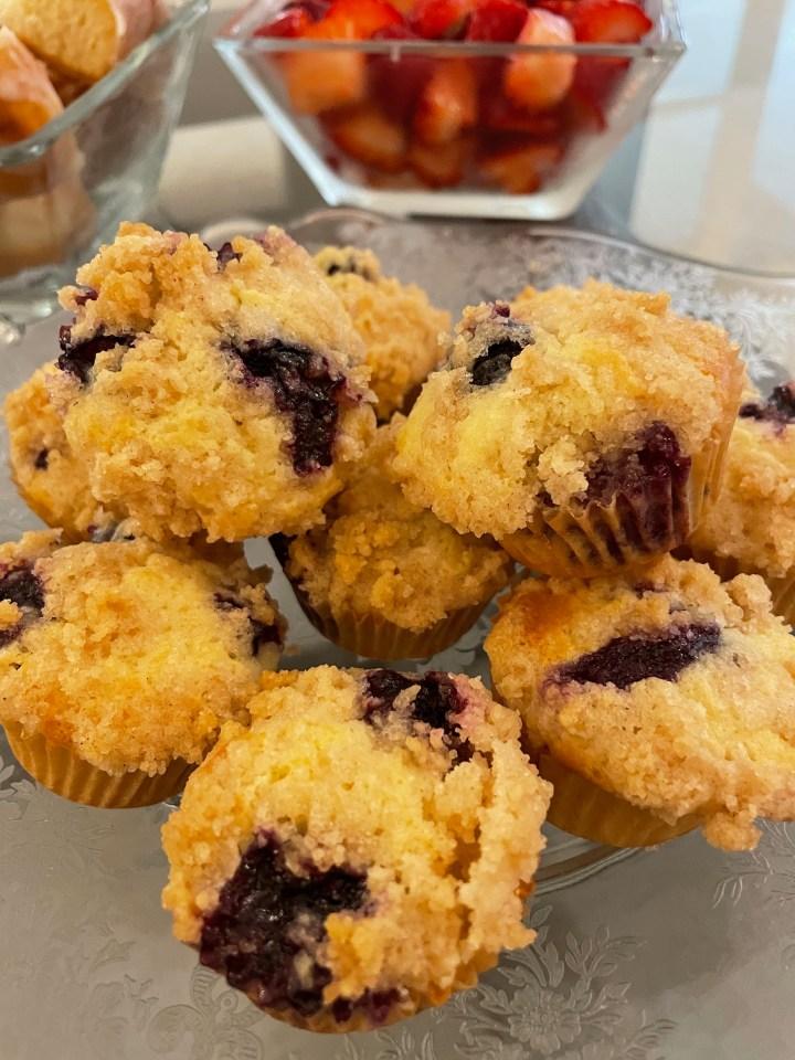 Burstin' Blueberry Muffins