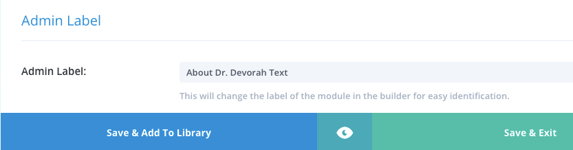 Editing a divi module label