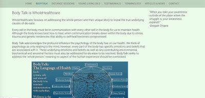 Healing head to toe bodytalk info