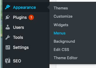 find Menus under Appearance in the dashboard