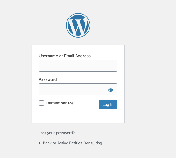 Logging into Your New WordPress Site