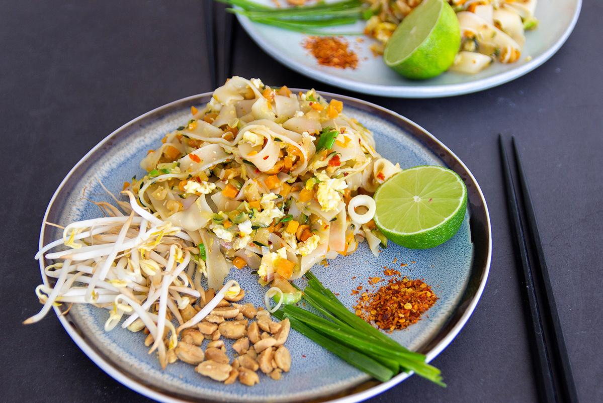 pad thai met groente