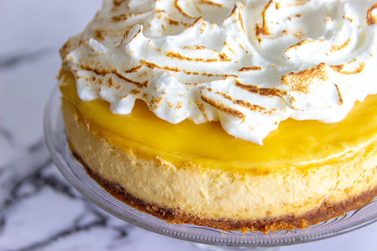 lemon merengue cheesecake