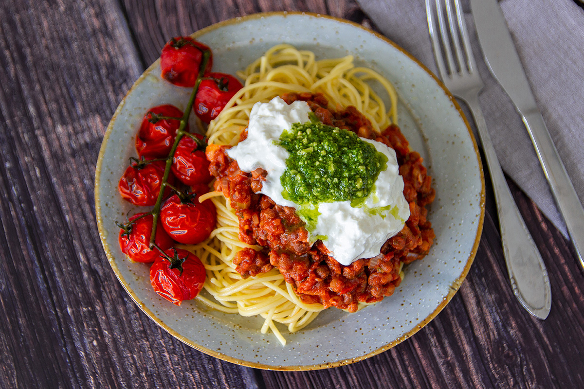 vegetarische pasta bolognese