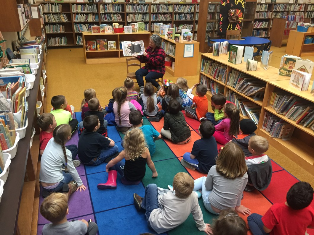 Two classes in the library