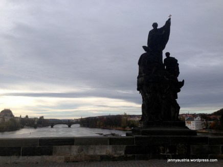 ...and to admire the view before Prague woke up.