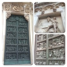 The intricate facade of the Duomo