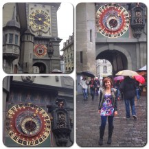 At the Zytglogge, Bern's famous clock tower.