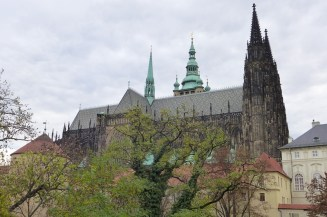 On the grounds of the Prague Castle...