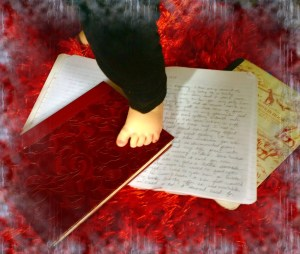 Journals & Baby feet