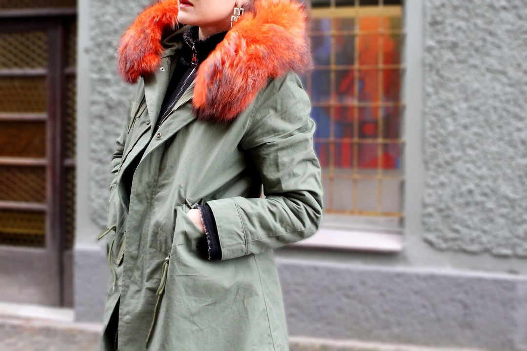 fur hood parka outfit