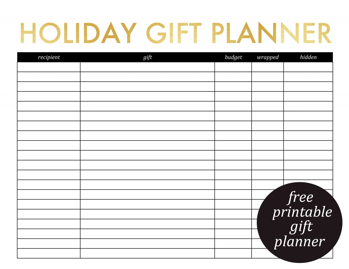 Printable T Planner And Christmas Card List Jenny