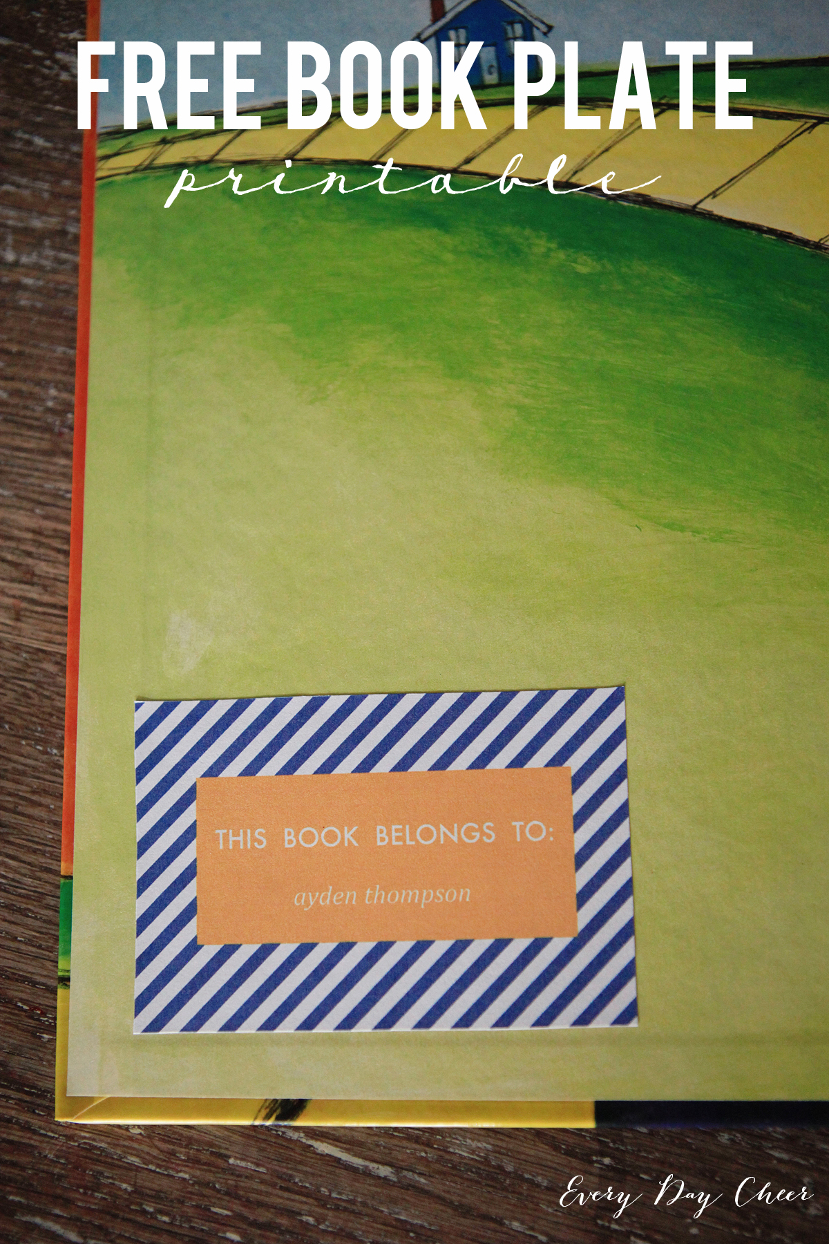 Book Plate Printable Jenny Collier Blog