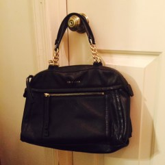 Black Bag with Chain Handles