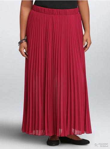 Torrid Pleated Chiffon Maxi Skirt