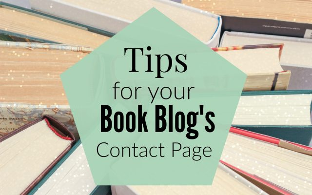Tip's for your Book blog's Contact Page
