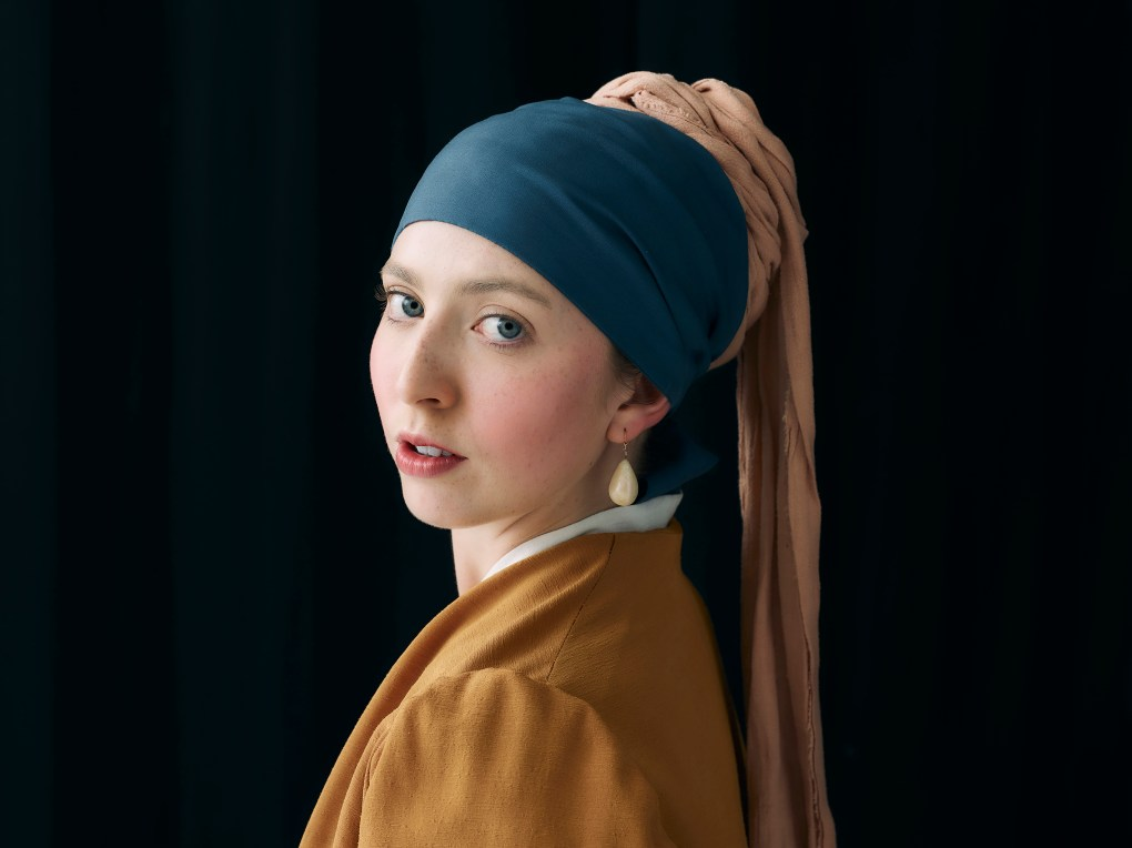 Recreated image of Girl with the Pearl Earring