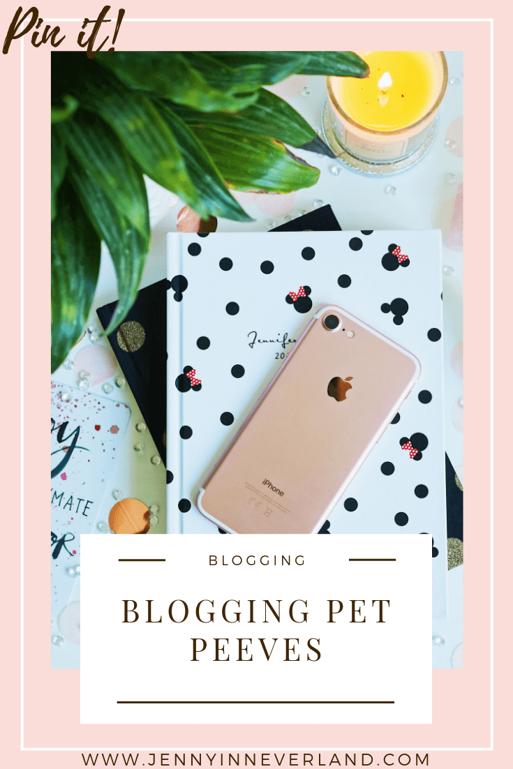 Blogging Pet Peeves