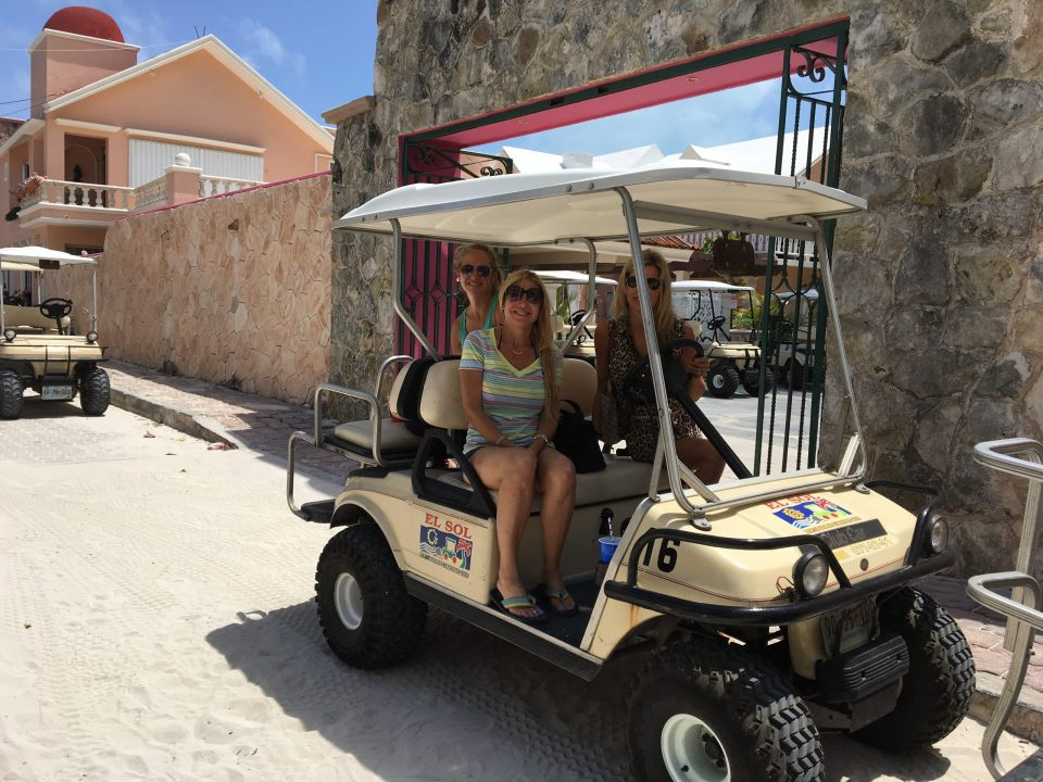 Transportation and getting around mexico by golf cart