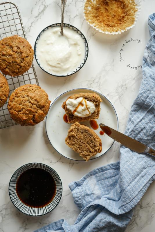 Gesunde Ingwermuffins ohne Haushaltszucker
