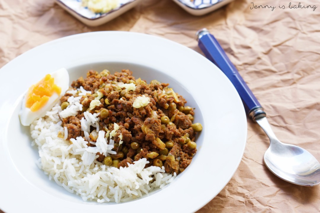 Indian minced meat with peas