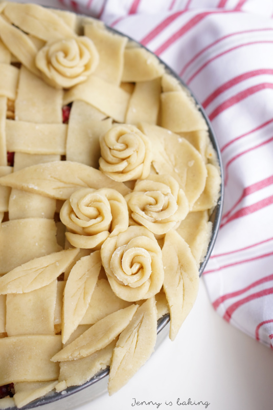 How to make pie roses