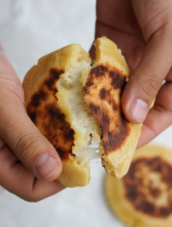 Colombian corn bread arepa boyacense