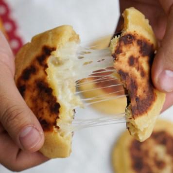 Colombian corn bread arepa boyacense