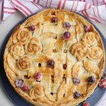 Apple Cranberry Almond Pie