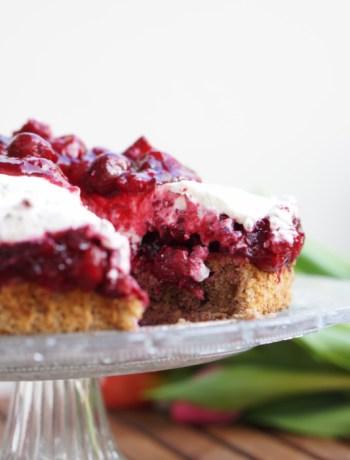 cherry hazelnut cake