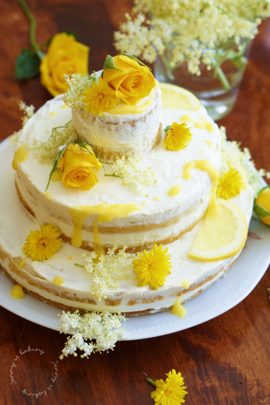 Elderflower And Lemon Wedding Cake Celebrating With Meghan And